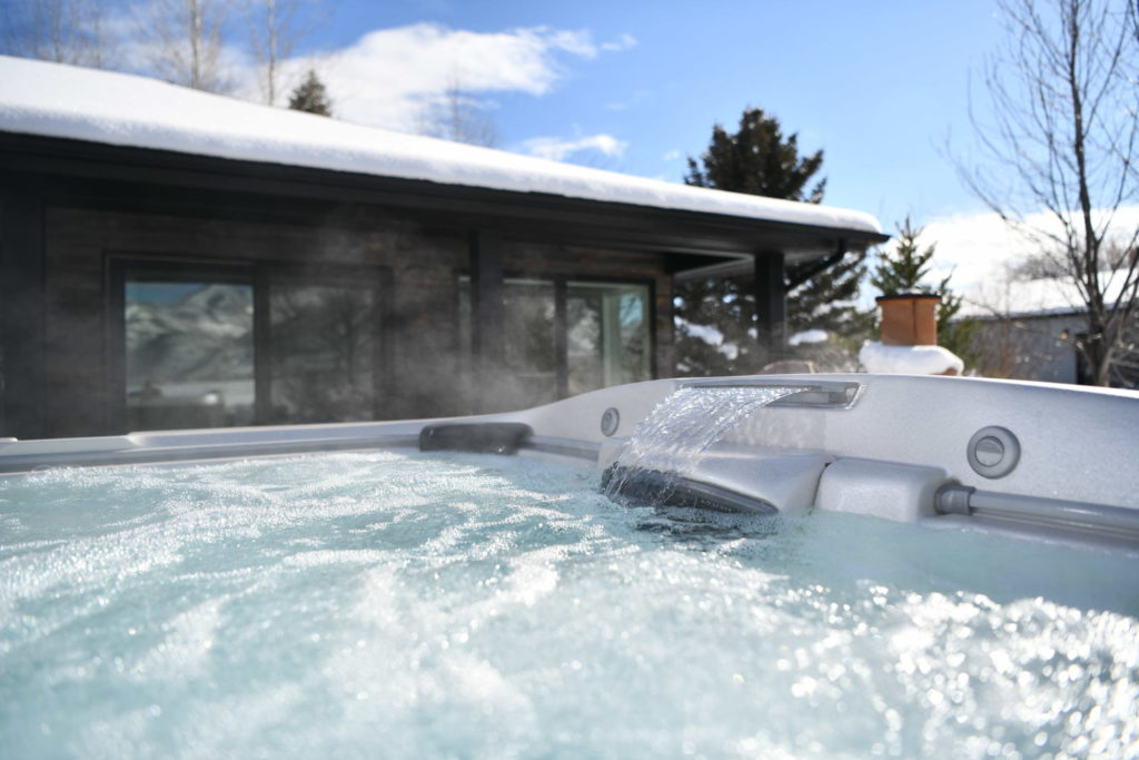 Jacuzzi Hot Tub in the winter