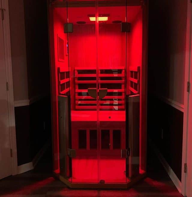Vaughan household enjoys light therapy inside their Jacuzzi Sauna