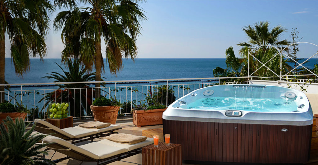 Jacuzzi Hot Tub installedn in a tropical locatio